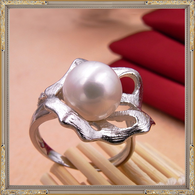 Natural Freshwater Pearl 925 Sterling Silver Ring