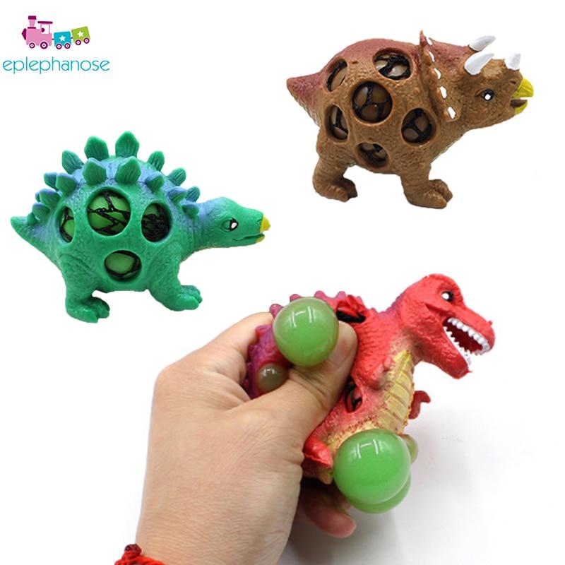 1pc dinosaur shape Children Pinch Grape Novelty Gag Toys antistress squishy toys Explode Bead Grape Ball funny jokes prank toys