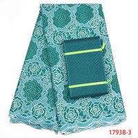 Швейцарская вуаль кружева Высокое качество Зеленый цвет кружева в Швейцарии 100% хлопок кружевной ткани в африканском стиле кружевная вуаль