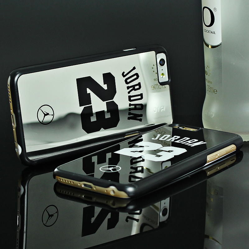 Luxury NBA Brand Michael Jordan 23 Cases For iPhone 6 6 Puls 5 5s SE PC Hard Mirror Phone Cases Cover For iPhone Cover Fundas