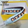 W. D. POLO Рослый Человек вы сумка ремешок сумки ремни стад подарок мешок аксессуар сумку части натуральной кожи Моды значок мешок ремни P1684
