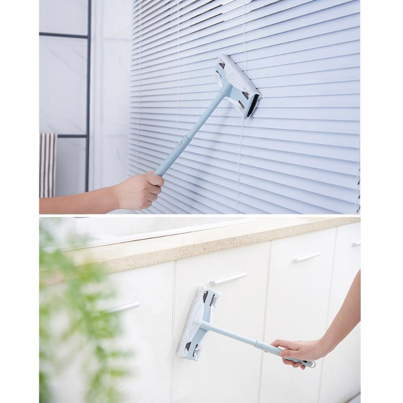 Adjustable Handle Window Cleaning Brush Replacement Non-Woven Dishcloth Home Window Glass Wipe Cleaner Car Window Cleaning Tool