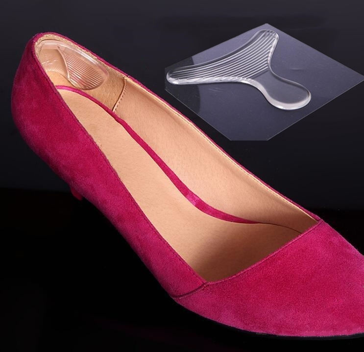 1Pair Women Invisible Silicone Gel Heel Cushion Pads  Transparent High Heel Protector Shoe Pad Insoles