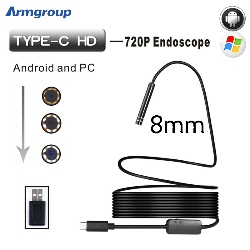 Armgroup Android Endoscop USB Camera Type C USB Endoscopio Inspection Camera PC Android for Huawei Phones