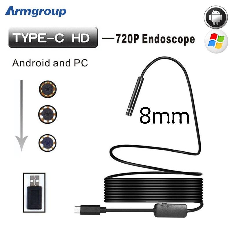 Armgroup Android Endoscop USB Camera Type C USB Endoscopio Inspection Camera PC...