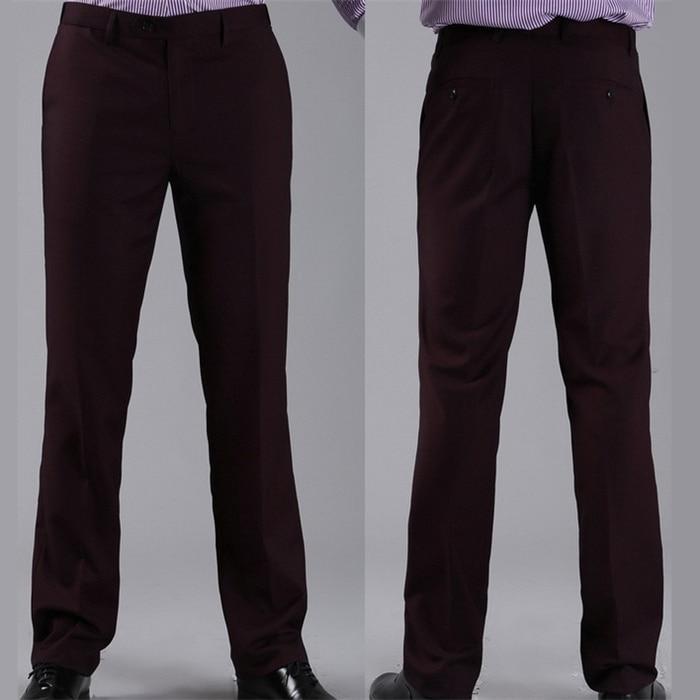 Мужские костюмные брюки модные свадебные формальные 12 цветов повседневные брюки известный бренд блейзер брюки Деловое платье брюки CBJ-H0284 - Цвет: standard dark purple