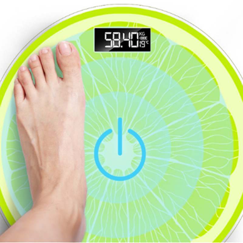 28CM Diameter Charging Scales Height And Weight Scales Human Body Home Health Bathroom Balance Scales Electronic Precision(China)