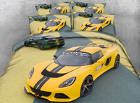 Yellow sports car 3d effect photo bed linen can be customized photo pattern