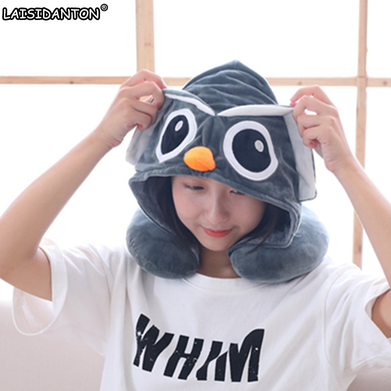 LAISIDANTON New Totoro Cheese Cat Owl Unicorn Women's Hat Cute Cartoon Animals Pillow With Hat bone Cap For Boys Girls Men Gift fun geometry rhombus tangrams logic puzzles wooden toys for children training brain iq games kids gifts