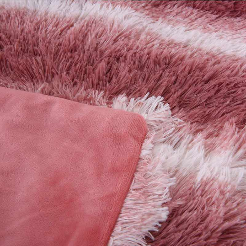 Lannidaa двойной теплый плюш длинный мех Пушистый Одеяло супер мягкий диван Одеяло s красный плед покрывала один двойной бросок Одеяло