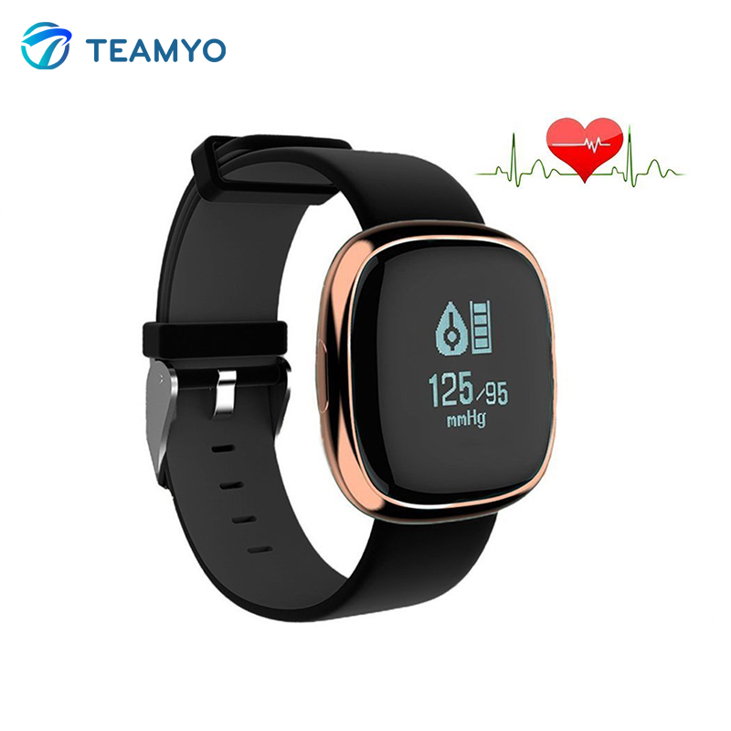 Teamyo P2 Blood Pressure Sleep fitness tracker Heart rate monitor activity tracker waterproof Smart band For