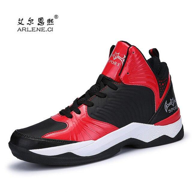 3b4ab1bb Hombre baloncesto al aire libre 2018 hombres botines antideslizante  zapatillas de deporte ayuda estabilidad Mens Zapatillas