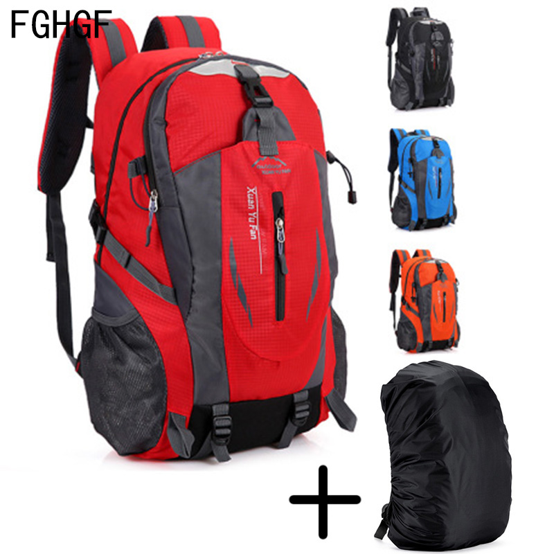 <font><b>35L</b></font> Outdoor Sports Mountaineering <font><b>Backpack</b></font> Camping Hiking Trekking Rucksack Travel Waterproof Cover Bike Bags image