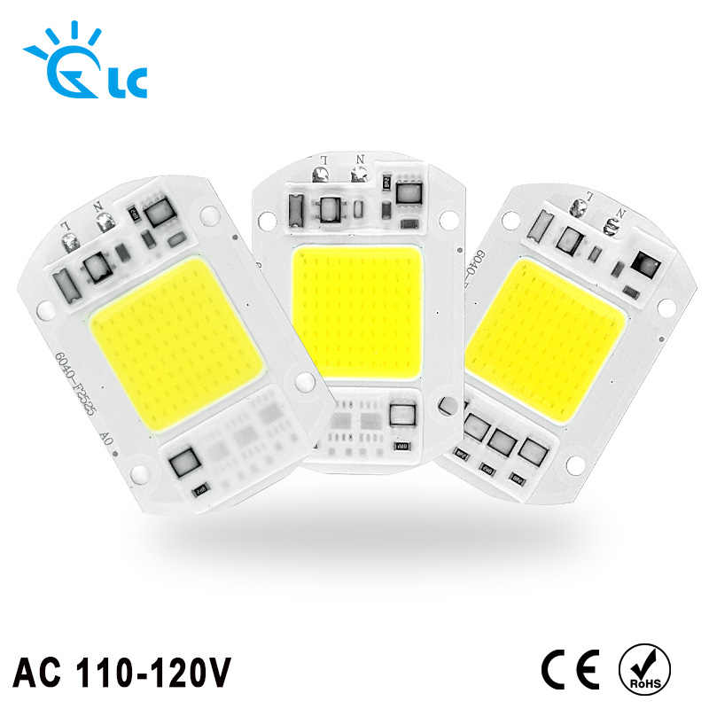 COB LED Lamp Chip 110V 120V 20W 30W 50W LED COB Bulb Lamp Smart IC Driver Cold Warm White LED Spotlight Floodlight Chip