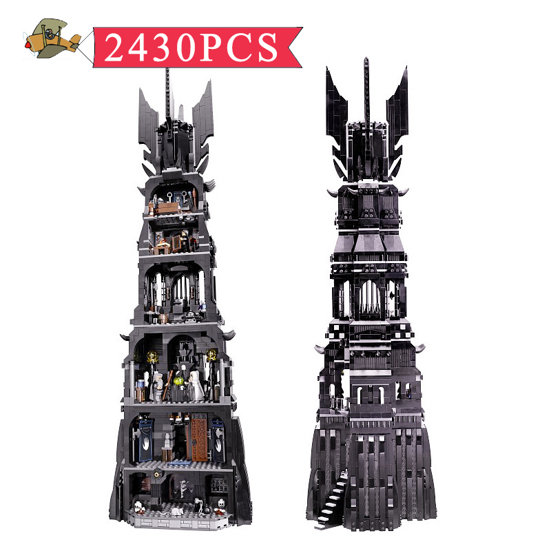 Model Building Blocks Toy Lord Rings the Tower of Orthanc Assembled set DIY Classic Children Building Bricks Toys Gift Bei Fen eighteen disciples of the buddha children puzzle toy building blocks