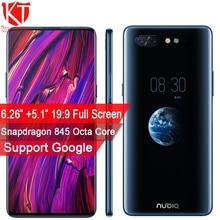 Новый оригинальный zte Нубия х мобильный телефон двойной Экран 6,26 «+ 5,1» 6/8 GB + 64/128 GB Snapdragon 845 Octa Core 16 + 24 Мп Камера отпечатков пальцев