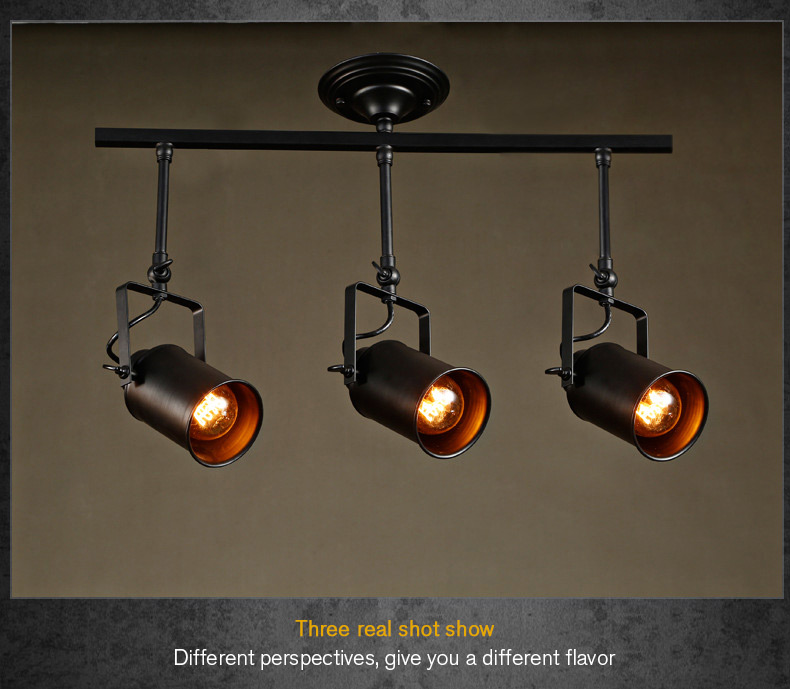 loft bar wall probe industrial pendant light black track lights