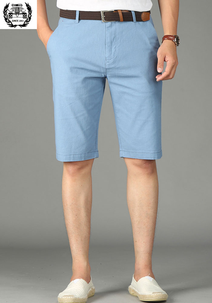 2019 New Summer Beach Military Shorts Cotton Linen 29~42 Brand Clothing Straight Men's Shorts Cargo Men's Casual Shorts Pockets