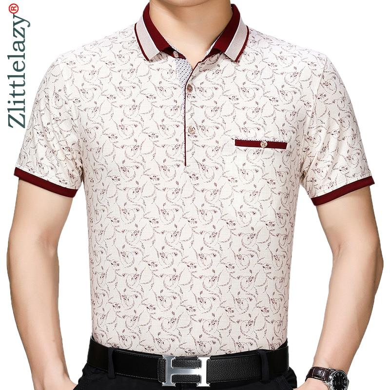 2019 brand casual summer flower short sleeve   polo   shirt men poloshirt jersey pocket mens   polos   tee shirts dress fashions 41605