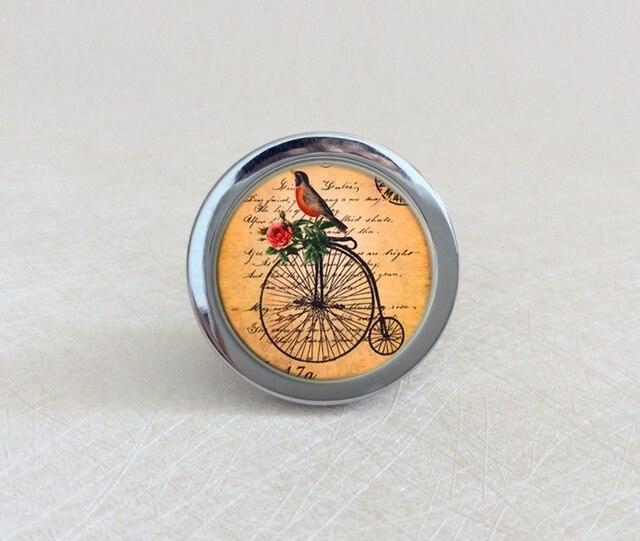 Bike Vögel Knöpfe Tier Schrank Knöpfe/Handgemachte Schublade Knöpfe ...