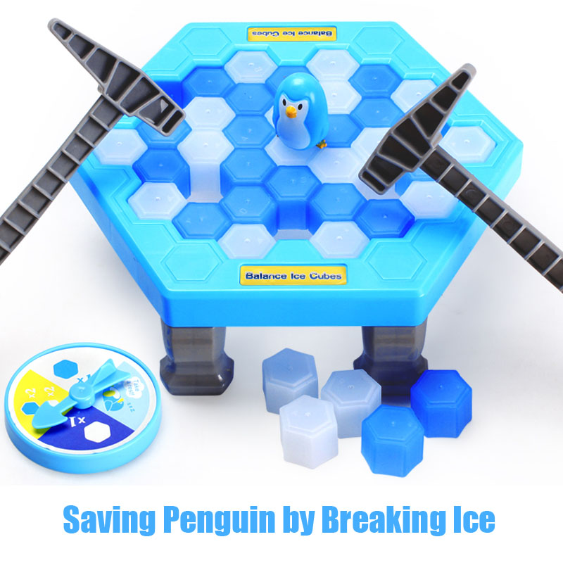 Ice Breaking Save The Penguin Party Supplies Penguin Trap Board Game Family Kids Early Educational and Anti-stress Toys funny bricks blocks anti stress tricks fun toys intelligent pyramid educational toys family party game