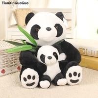 about 30cm cute panda plush toy bamboo panda hug baby panda soft doll throw pillow birthday gift s0479