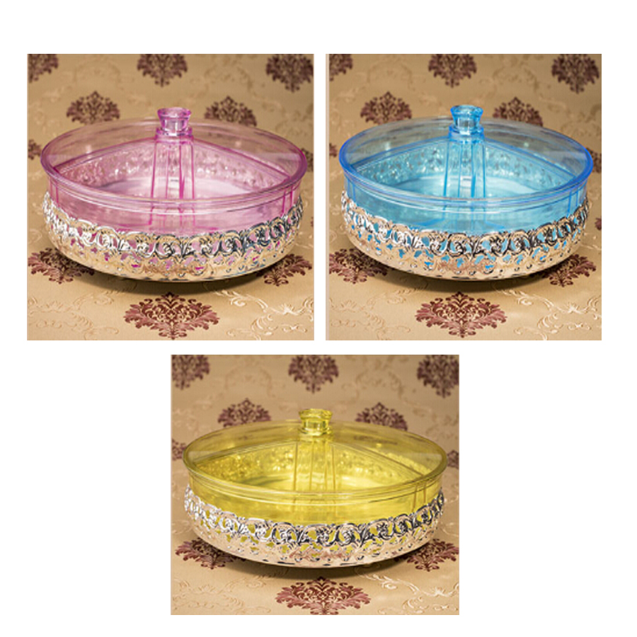 Topsky Dry Fruit Plate Candy Sugar Dish Plastic Living Room Sealed Moisture-free Snack Tray