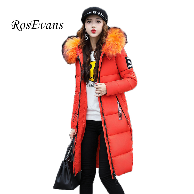 RosEvans 2017 New Arrival Winter Women's Hooded Parkas Jacket Coat Female Warm Padded Fashion Outerwear Jacket for Women B558 su yajia indonesia suryana kopi luwak 50g
