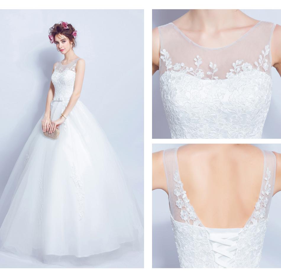 Angel Wedding Dress Marriage Bride Bridal Gown Vestido De Noiva 2017 Lace, flowers, perspective, backless 612 11