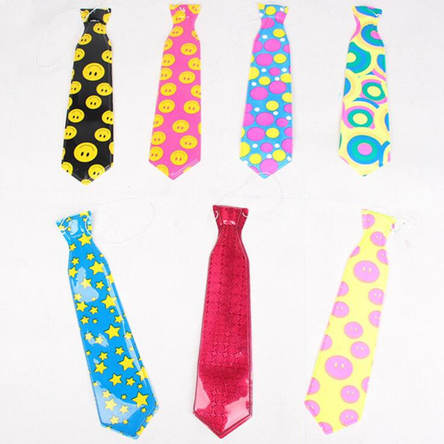 colorful tie clown circus necktie bow tie for kids adult cosplay props party favor dress