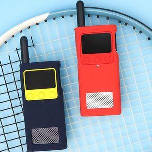 Image 3 - Capa protetora caso de silicone luva da pele acessórios portáteis para xiaomi mijia inteligente walkie talkie 1 s rádio