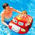 Para o Miúdo 3-5 Anos de Idade Crianças Peixes Dos Desenhos Animados Forma de Segurança Jangada Flutuador Assento Flutuante Anel Inflável Nadar Formação acessórios A015