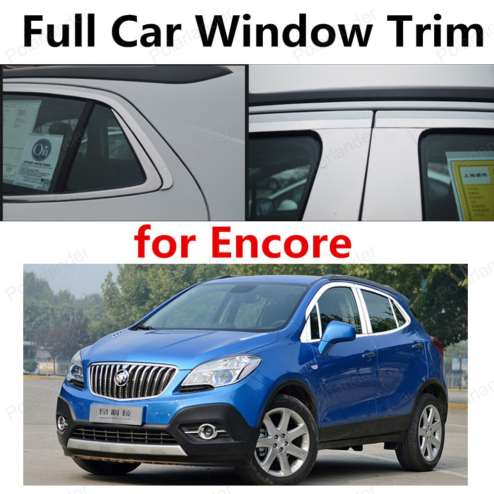 wholesale Stainless Steel Decoration Strips For Encore full Window Trim  withcolumn Car Styling