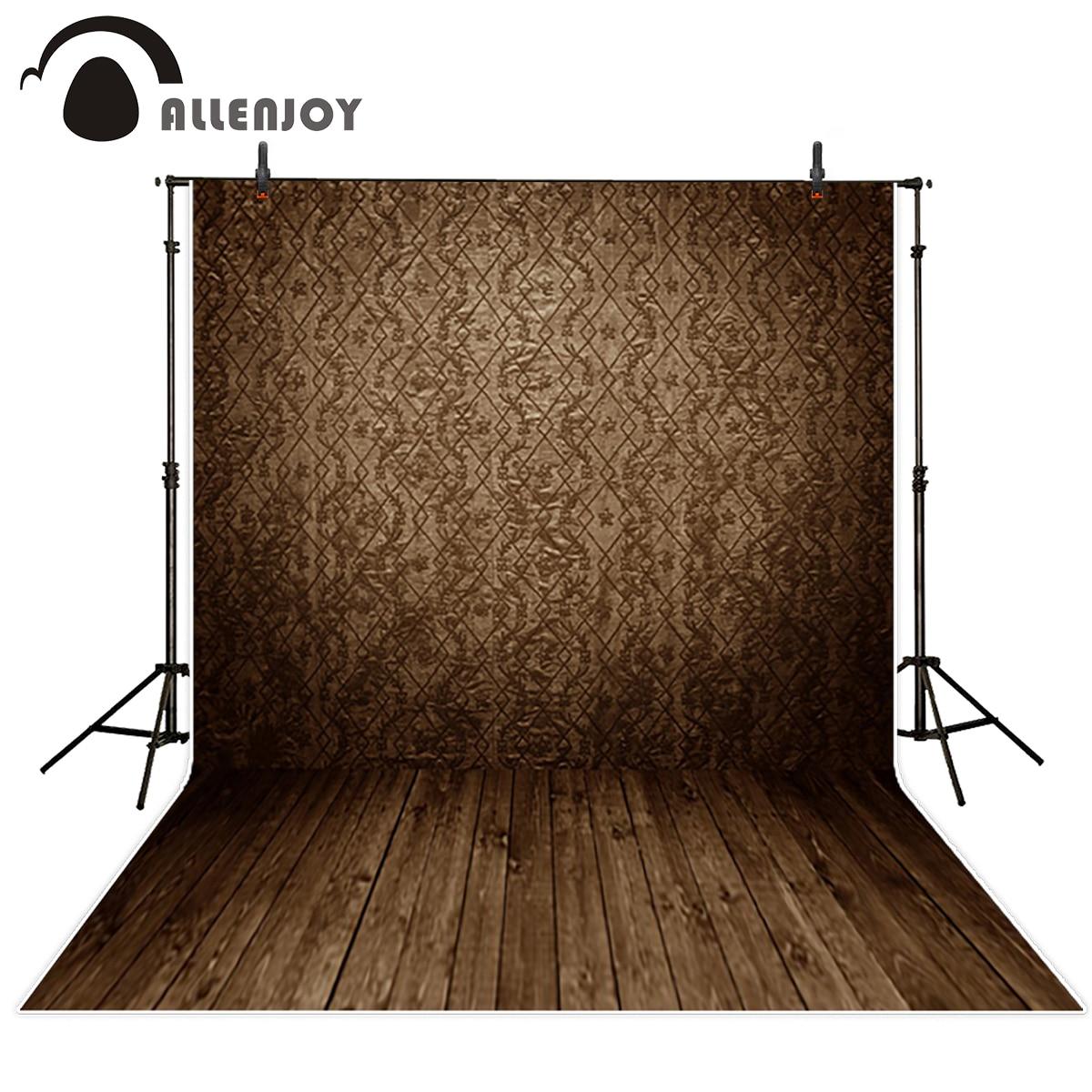 Allenjoy photography backdrop brown damask wall wood floor vintage background professional fabric photocall аксессуар защитная пленка alcatel onetouch pop d5 5038d media gadget premium антибликовая mg997