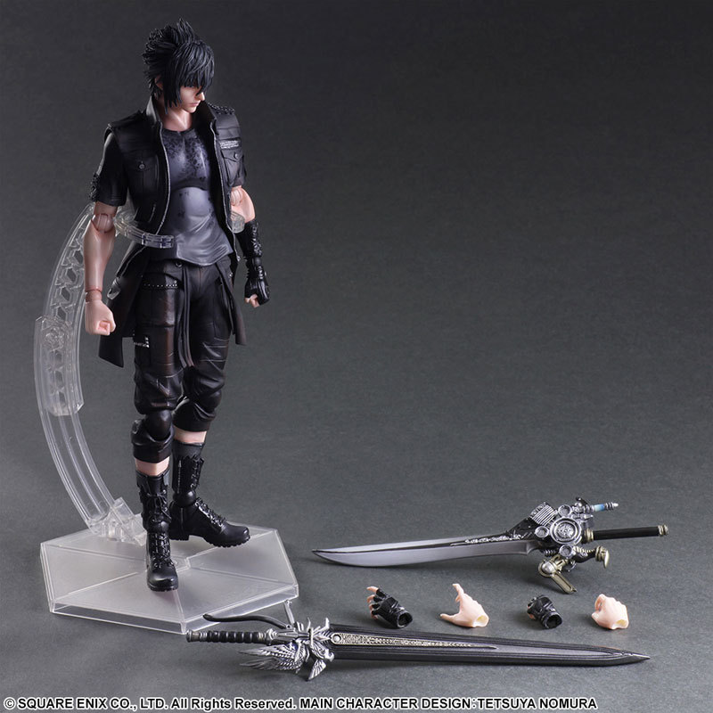 SAINTGI XV Final Fantasy7 PA Claude Knight Noctis Lucis Caelum Play Arts Kai Cloud Strife Collection Model PVC 27cm Figures