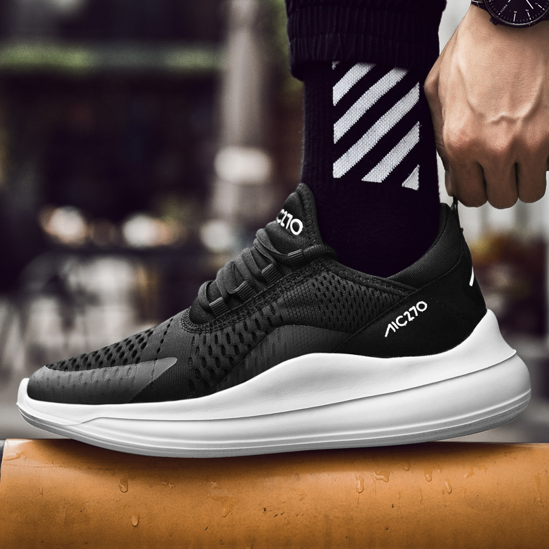 2019 Spring Autumn Sneakers Height Increase Lace Men Footwear Fashion Zapatillas Deportivas Hombre Breathable Casual Shoes
