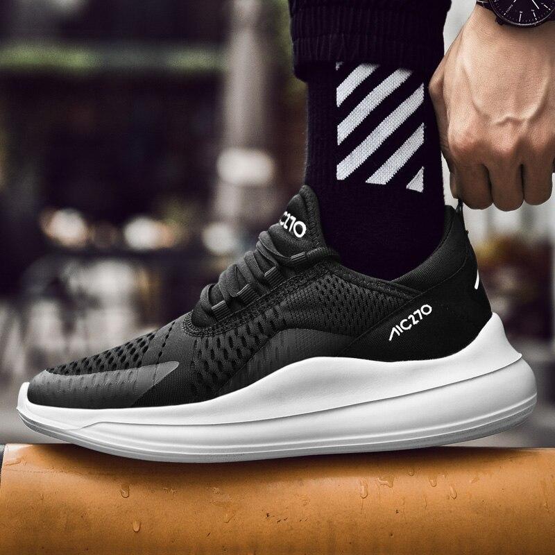 2019 Spring Autumn Sneakers Height Increase Lace Men Footwear Fashion Zapatillas Deportivas Hombre Breathable Casual Shoes zapatillas de moda 2019 hombre