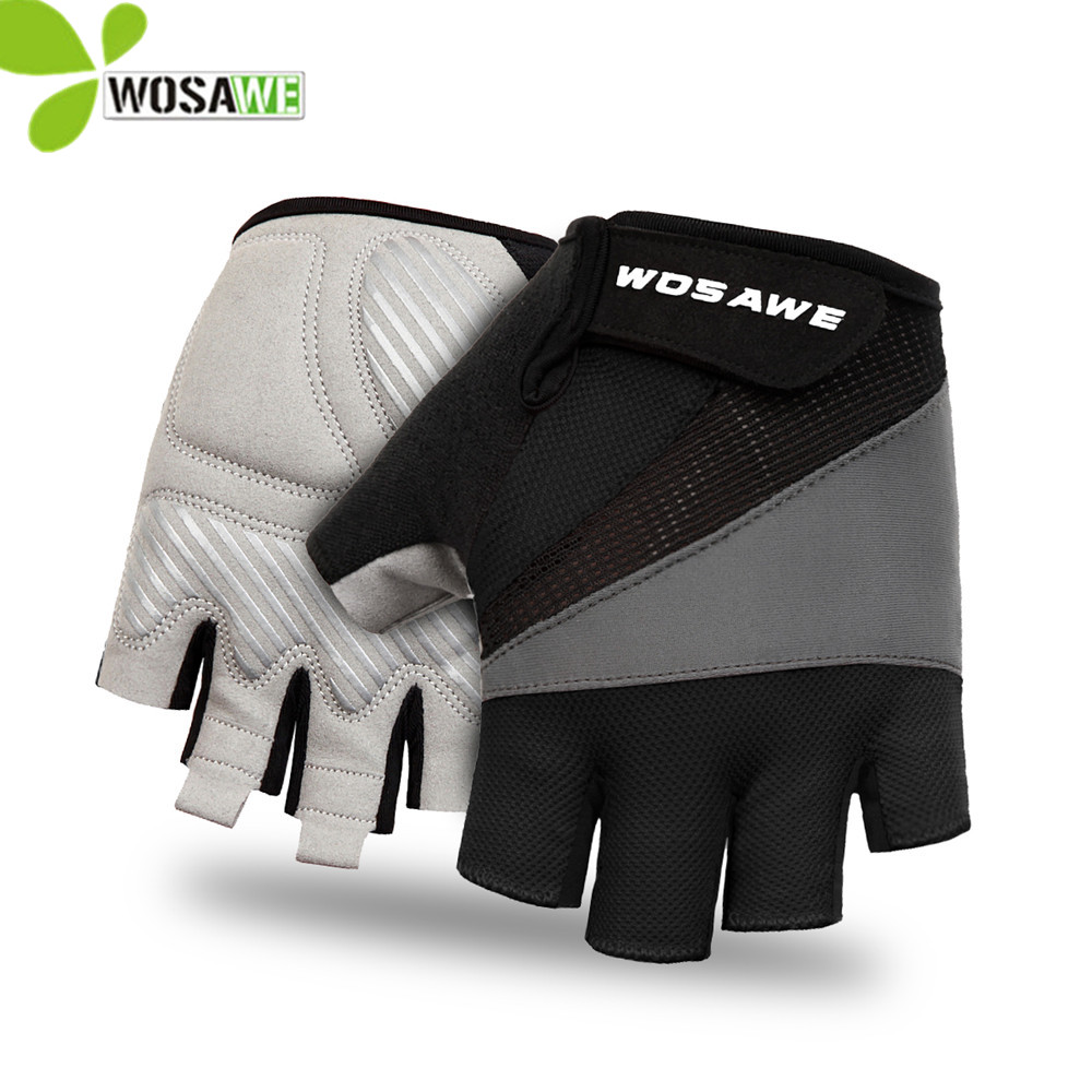 WOSAWE Guantes Ciclismo Cycling Gloves Luva Half Finger Anti Slip Gel Pad Road Short Bike Bicycle Wearable Racing Mtb Gloves cinzia rocca пальто