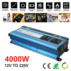 4USB 4000W Peak Car Inverter Solar Power