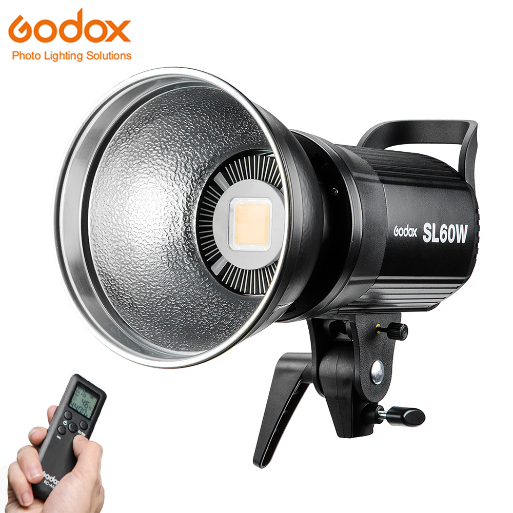 Godox SL-60W LED lumière vidéo continue SL60W 60 W CRI 95 + blanc 5600 K Bowens Mount avec télécommande pour la photographie Sony