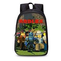 Горячая мультфильм аниме Roblox рюкзаки школьная сумка для подростков мальчиков Детский рюкзак Mochilas Мужская книжная сумка повседневная сумка...