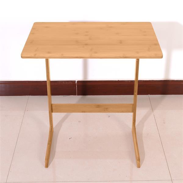 Ordinateur Table basse ordinateur portable bureau ordinateur portable Table de lit bureau debout en forme de L bambou canapé Table d'appoint