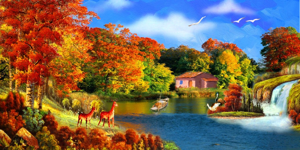 Popular riverside sceneries buy cheap riverside sceneries lots from china riverside sceneries - Fall landscaping ideas a mosaic of colors shapes and scents ...