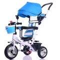 Alta Calidad Nuevo Diseño Del Bebé Sillas de Paseo de 3 Ruedas Triciclo Bebé Bicicleta Marco De Acero Fuerte de Seguridad de Coche de Bebé Portable Del Bebé