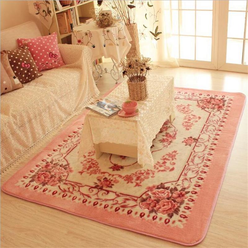 Aliexpress Buy 200cm150cm Rose Flower Carpet Large Washable Living Room Rugs Home Decorative Parlor Area Rug Bedroom Floor Mat Thicken Soft From