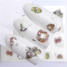 LCJ Flower / Horse / Bird / Snail / Dog Designs Water Transfer Sticker Nail Art Decals DIY Fashion Wraps Tips Manicure Tools(China)