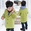 New 2016 Baby Boys Children Outerwear Coat Kids Jackets For Boy Girls Winter Jacket Warm Hooded Children Clothing Gray Khaki Red