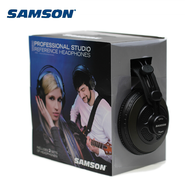 Original Samson SR850 professional monitor Headphone Semi open Studio Headset one pair two pieces package-in Headphone/Headset from Consumer Electronics    1