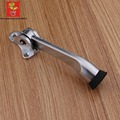Wholesale 2Pieces  Zinc alloy Kickdown Door Stopper in Satin Chrome lever door holder cool door stops deurstopper doorstop