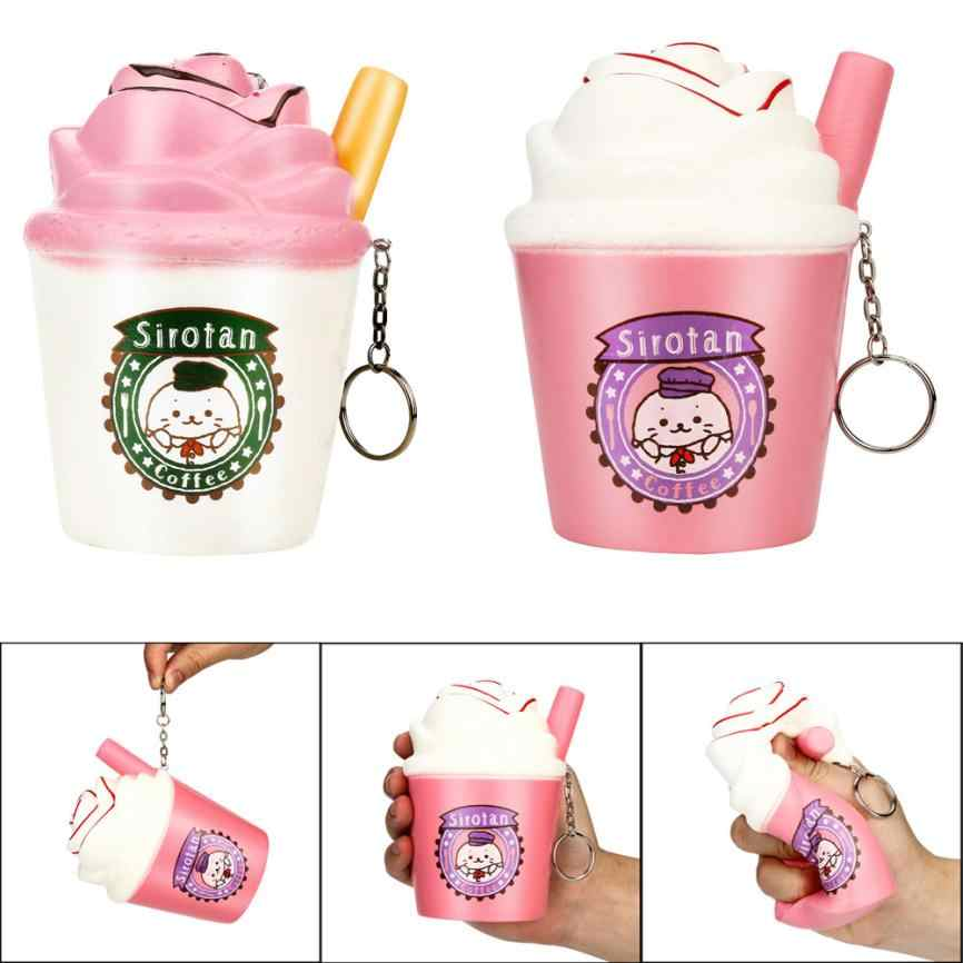 Squish Antistress Toys For Children Cartoon Milk Ice Cream Cup Cute Squishy Toys Stress Reliever Funny Toy 30S886 wholesale